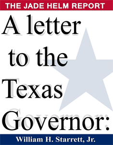 A Letter to the Texas Governor: THE JADE HELM REPORT by William Starrett